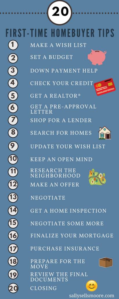 Sally Moore First-Time homebuyer tips