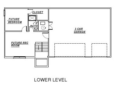 Redding floor plan lower level