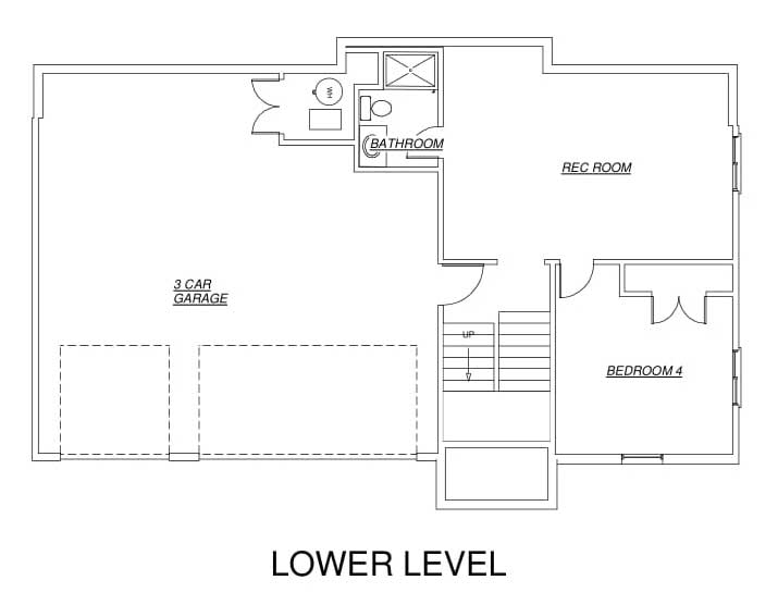 Jackson Floor Plan Lower Level