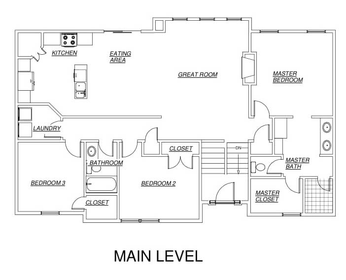 Jackson Floor Plan Main Level