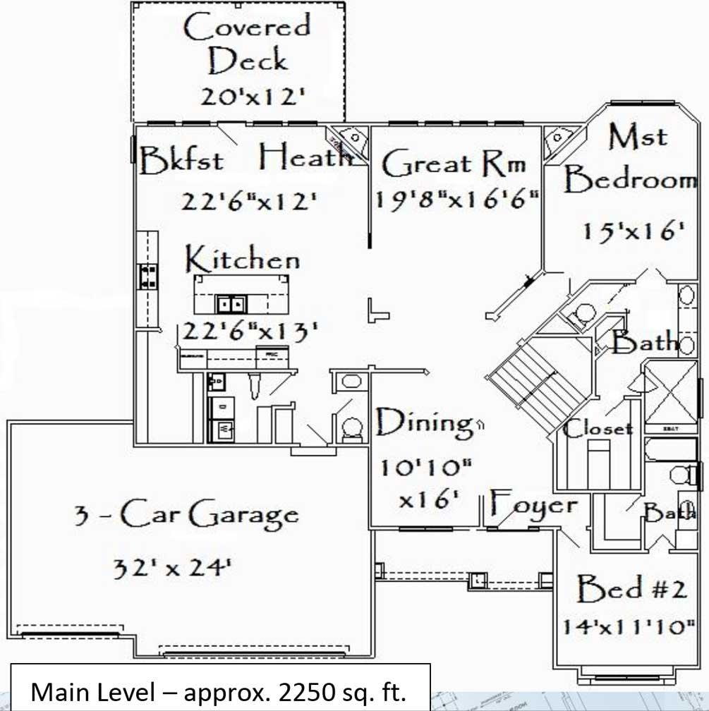 Elm Main Floor Plan
