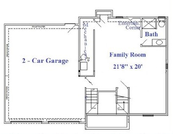 Dreams and Design Building Hefeweizen floor plan lower level