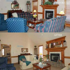 home staging kansas city before and after