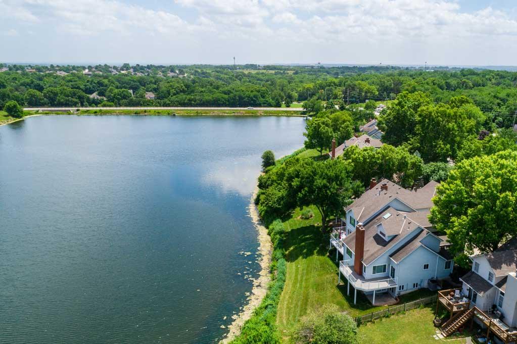 1113 NE Waterfield Village Aerial Blue Springs Lakefront