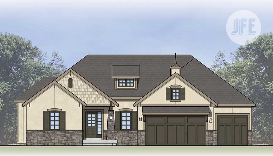 Gunnison Front Elevation by JFE Construction