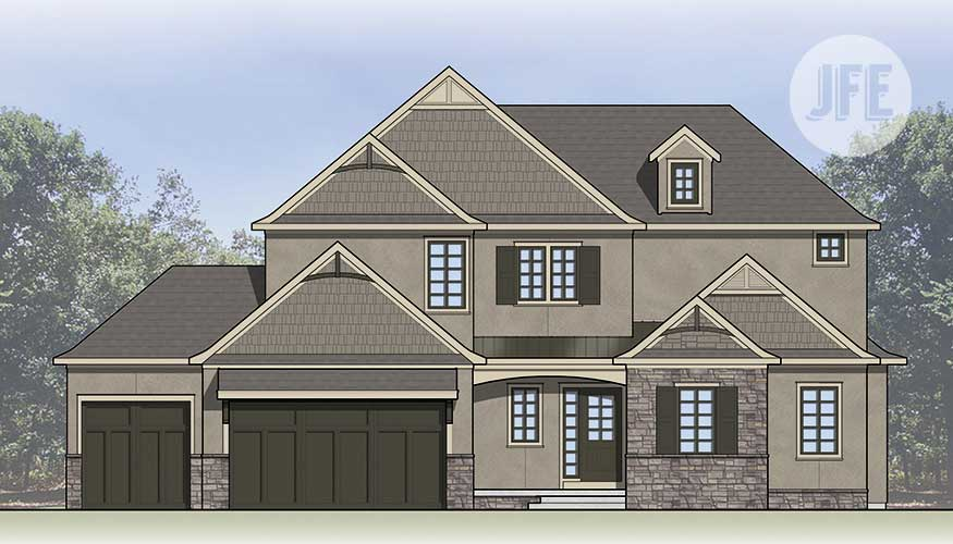 Maplewood Front Elevation by JFE Construction