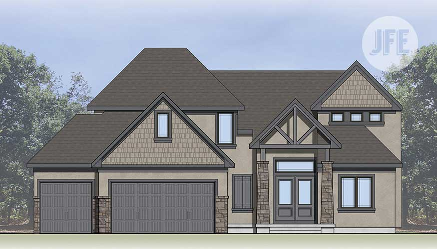 Norwood Front Elevation by JFE Construction