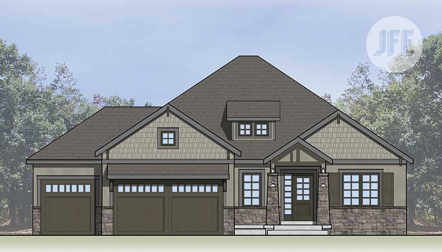 The Creekside Front Elevation