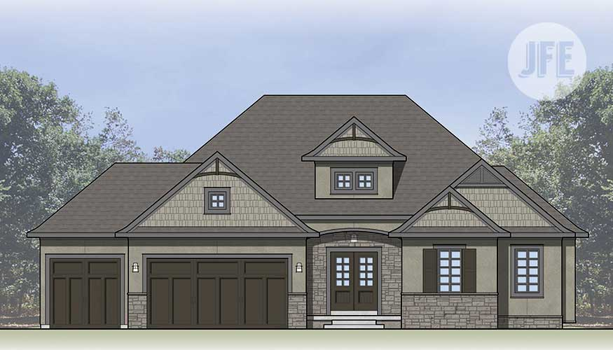 The Summerfield Front Elevation by JFE Construction