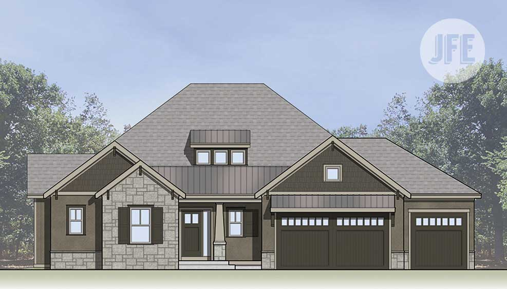 Williston Front Elevation by JFE Construction
